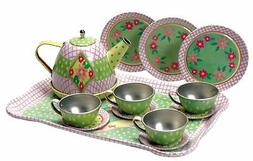 Children`s Tin Tea Set , New, Free Shipping