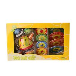Bissport Tin Tea Set Toy Kitchen Playset For Kids Girls Boys