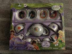 Disney Tinkerbell 12 PC. Porcelain Fairies Tea Set! - New