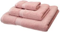 Blue Nile Mills 3-Piece Towel Set, Premium Long-Staple Cotto
