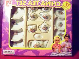 Toy China Tea Set 17 Pieces Girls BEAR print NEW in box chil