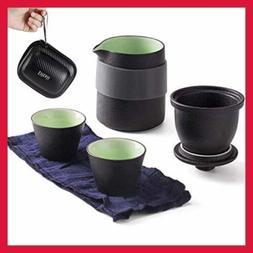 Travel Ceramic Tea Pot Set Chinese Kung Fu Teapot 1 2 Mini C
