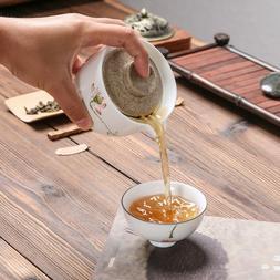 travelling tea set porcelain tea pot with infuser crude pott