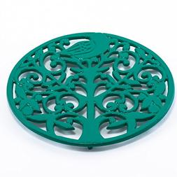 Old Dutch Tree of Life Trivet, Emerald Green