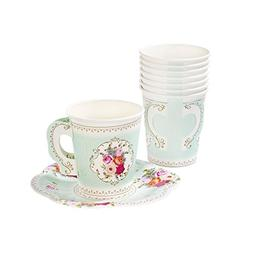 Talking Tables Tea Party Vintage Floral Tea Cups and Saucer