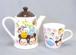 Disney Tsumtsum premium Tea pot & cup set Mickey Minnie Toky