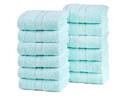 ixirhome Turkish Luxury Mini Hand Towel Set 12 Piece, Machin