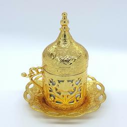 Turkish Traditional Ottoman Coffee Cups Saucer & Porcelain i