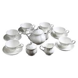 ufengke 15 Piece English Bone China Tea Cup Sets, Modern Cer
