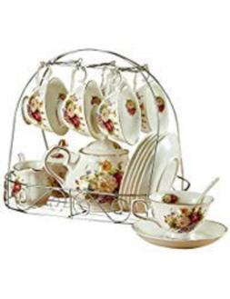 ufengke 15 Piece European Ceramic Tea Sets, Bone China Coffe