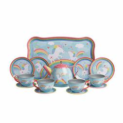 Schylling Unicorn Tin Tea Set