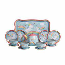 tin unicorn tea set kitchen pretend tea