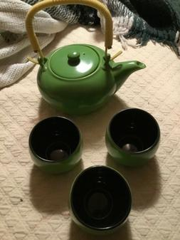 Utsuwa-No-Yakata Green  Asian Tea Set