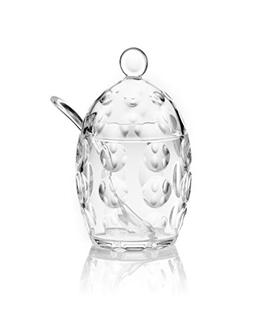 Guzzini Venice Collection Sugar Bowl with Teaspoon, 7-3/4-Fl