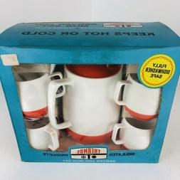 Vintage 1970's THERMOS Coffee Tea Pot Server & Mug Set Ins