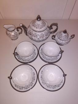 Vintage Gareis Waldsassen Bavaria Silver Floral Anniversary