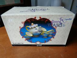 Vintage Disney Beauty & The Beast Toy China Tea Set New in B