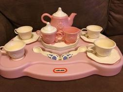 Vintage Little Tikes ELEGANT VICTORIAN TEA SET w/Lazy Susan