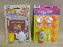 Vintage Kids Tea Sets Play Like Mom Larami, & Feeline, New S