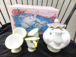 Disney Vintage Mrs Potts and Chip Beauty and the Beast Toy C