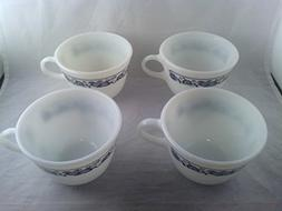 Vintage Pyrex Old Town Blue Onion Pattern Tea Coffee Cups Mu