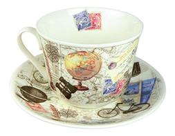 Roy Kirkham Vintage Past Times Breakfast Tea Cup and Saucer