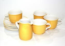 VINTAGE SET OF 4 MIKASA BUTTERNUT C8300 COFFEE/TEA SET & CRE