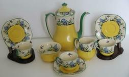Vintage Wedgwood Swallow Tea Set Sugar Creamer Cups Saucers