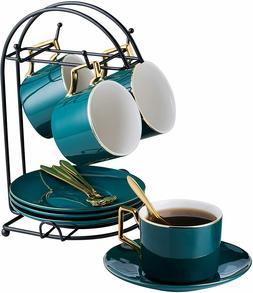 Vintage Tea Set Porcelain Tea Cup Coffee Saucers Set Premium