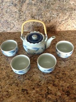 VTG Japanese Handcrafted Tea Set - Asian Tabletop Decor Sign