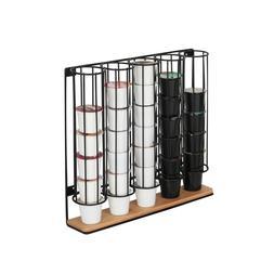 Wall Mount Metal Bamboo 35 Keurig K-Cup Organizer Dispenser