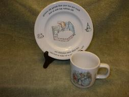Wedgwood Beatrix Potter Childs Tea Cup & Plate Set English A