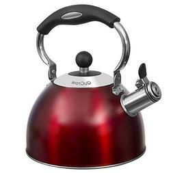 QuCrow Whistling Tea Kettle with Heat-Proof Handle, Kitchen