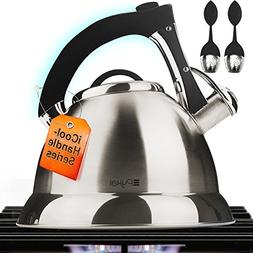 Pykal Whistling Tea Kettle with iCool - Handle, Surgical Sta