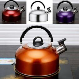 Whistling Tea Kettle Stainless Steel Teapot for Stove Top Fa