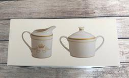 Downton Abbey - White And Gold Creamer And Sugar Bowl Set