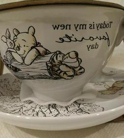 DISNEY Winnie The Pooh & Friends 12oz Tea Cup & Saucer Set N