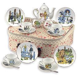 Reutter Porcelain Wizard of Oz Tea Set with Hamper Case - Me