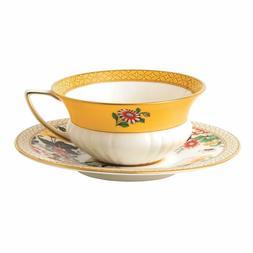 Wedgwood 40024020 Wonderlust Teacup & Saucer Set Primrose, 2