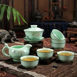 XDOBO High End Celadon Tea Set Hand-painted Kung Fu Chinese