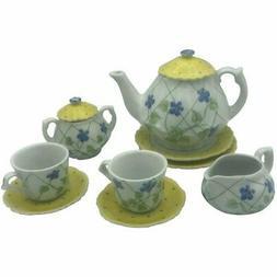 Yellow Polka Dot Child's Tea Set