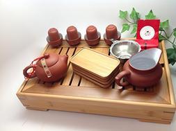 Yixing Tea Set 15pcs with Medium Tea Tray RAW