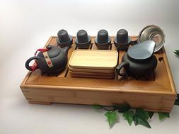 Yixing Tea Set 15pcs with Medium Tea Tray BLW
